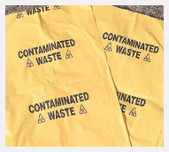 Contaminated waste bag