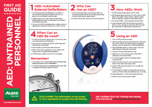 First Aid Guide for AED Untrained Personnel