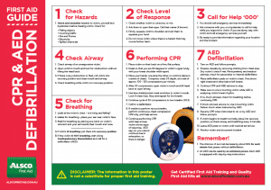 First Aid Guide CPR and AED Defibrillation