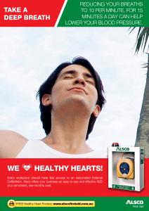 Healthy Heart Poster: Take a deep breath