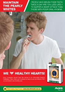 Heart Health Poster: Poor Oral Hygiene