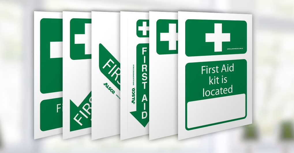 graphic relating to Printable First Aid Sign called Various 1st Guidance Signs and symptoms Free of charge Poster Down load Alsco