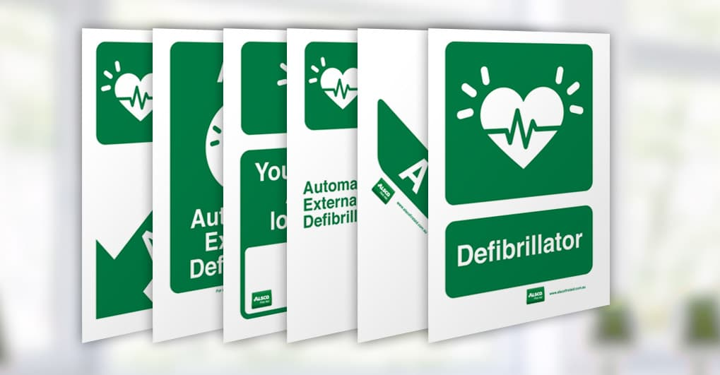 graphic about Oxygen in Use Sign Printable known as Defibrillator Signs and symptoms Print Posters Spot Indicators Alsco