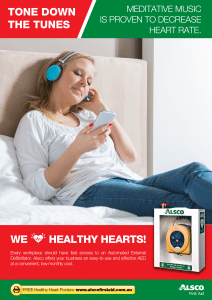 Heart Health Poster: Meditative Music to Decrease Heart Rate