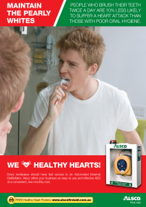 Heart Health Poster: Poor Oral Hygiene