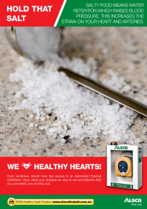 Heart Health Poster: Salt Raise Blood Pressure