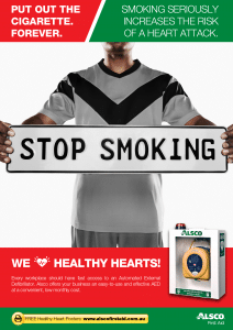 Heart Health Poster: Stop Smoking