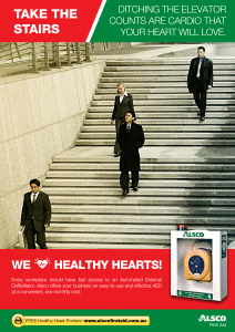 Heart Health Poster: Take the Stairs