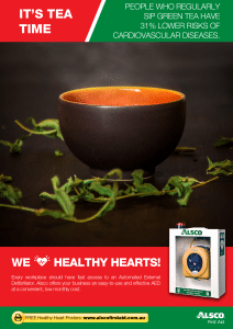 Heart Health Poster: Drink Tea