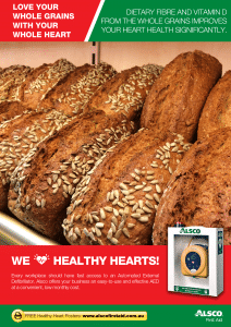 Heart Health Poster: Whole Grains