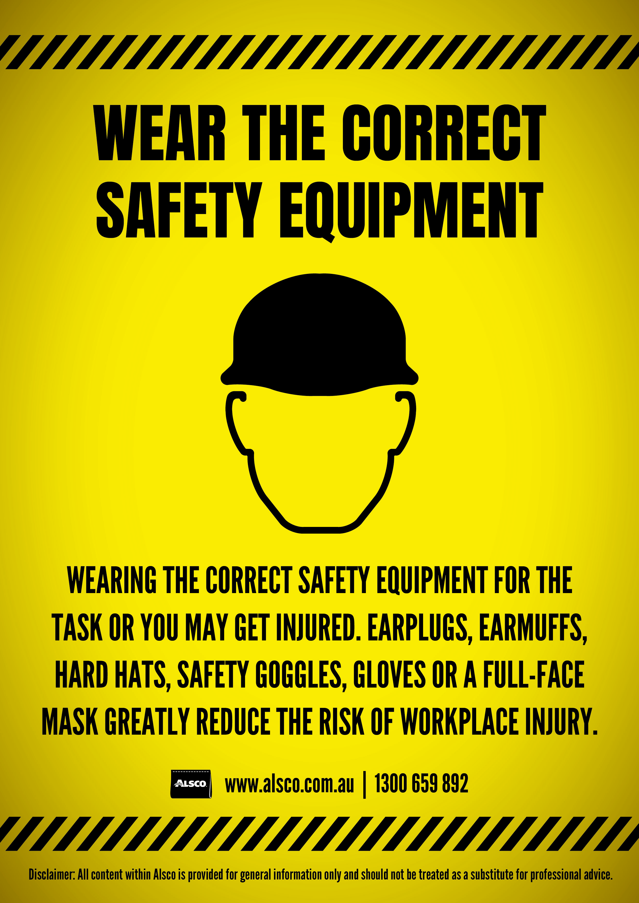 Proper safety equipment is a must