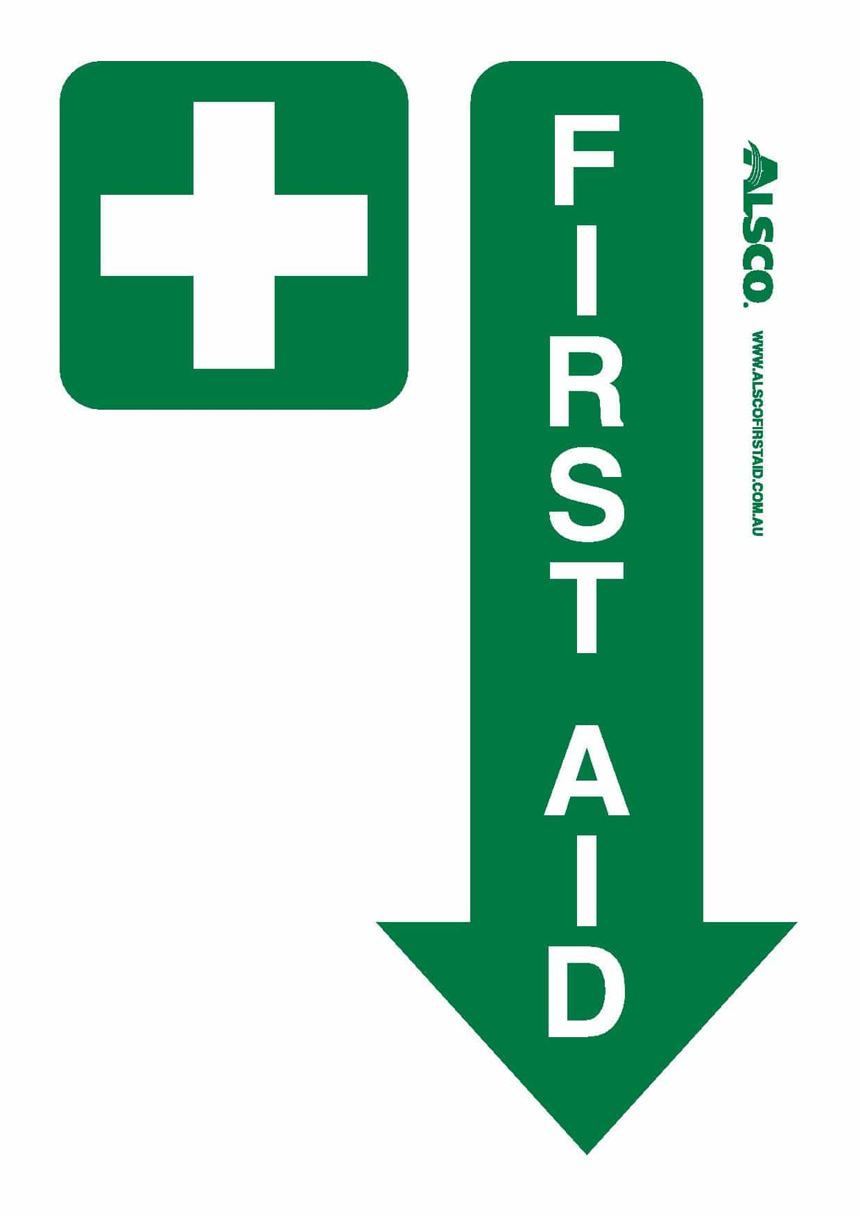 photo regarding Printable First Aid Sign titled Many Very first Support Indications Totally free Poster Obtain Alsco
