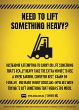 Avoid lifting something that weighs too much