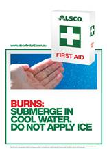 First Aid Poster Burns